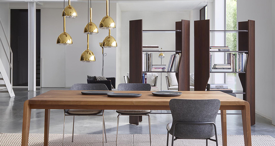 brass bell hanging lamp by ligne roset modern suspension lamps los angeles