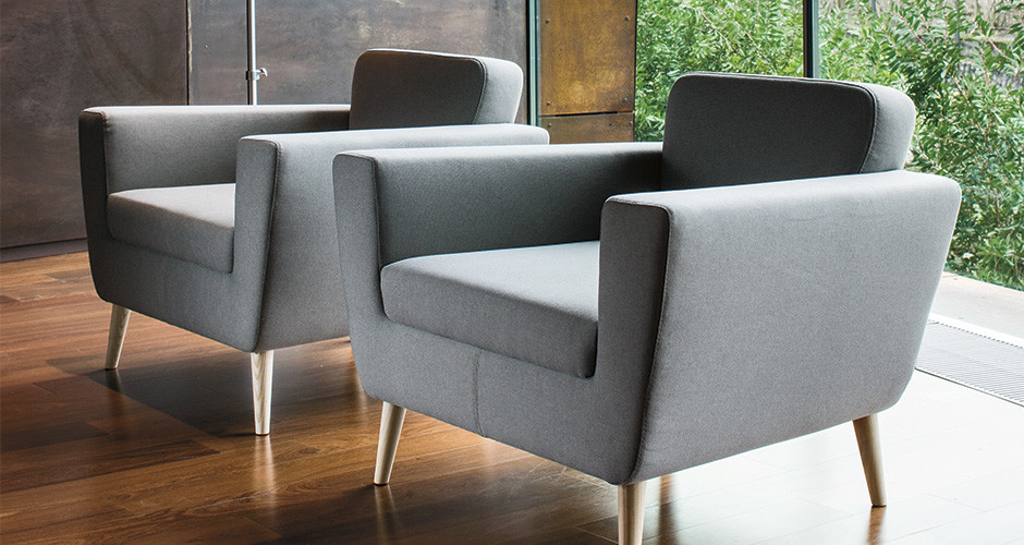 Serie 50w by la cividina modern lobby seating linea for Modern furniture los angeles