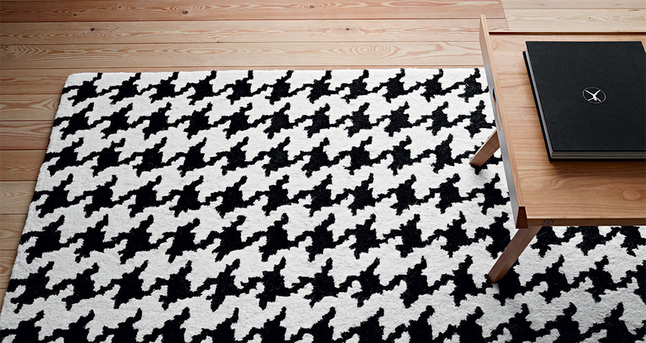 Pied de coq by ligne roset modern rugs linea inc for Modern rugs los angeles