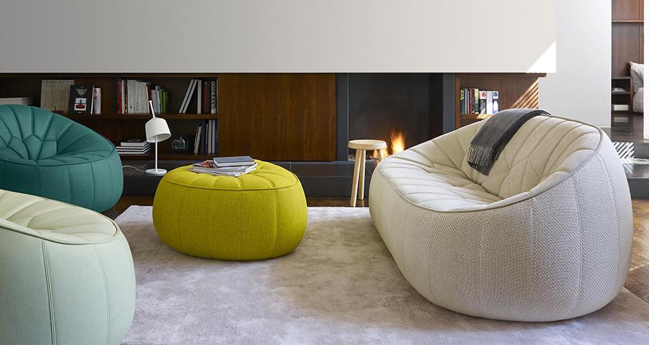 ottoman by ligne roset modern sofas linea inc modern. Black Bedroom Furniture Sets. Home Design Ideas