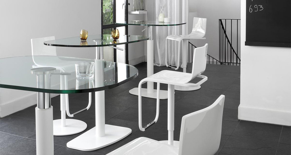 Piazza Adjustable Table by Ligne Roset Modern Dining Tables Los Angeles